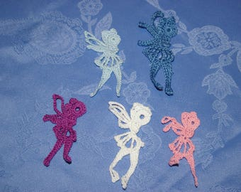 set of 3 appliques fairies for scrapbooking embellishment color choice