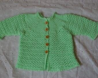 Baby: little green vest 6 months