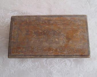 Vintage wooden jewelry box, Handmade pyrography, Retro wooden box, old box, Gift idea, Тreasure box, Handmade wooden box, Antique box