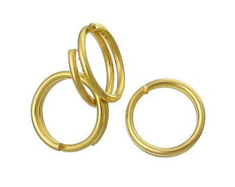Set of 30 jump rings double Gold 5 mm
