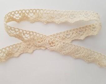 ecru cotton lace