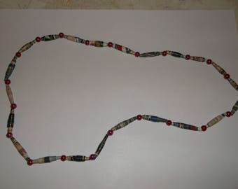 paper clown necklace