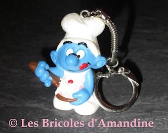 Keychain, gourmet Smurf bag charm
