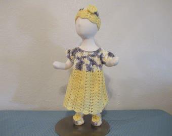 Beautiful Baby Dress,Hat,Booties