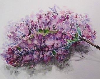 Dessin encre de chine femme style baroque tableau art - Dessin de lilas ...