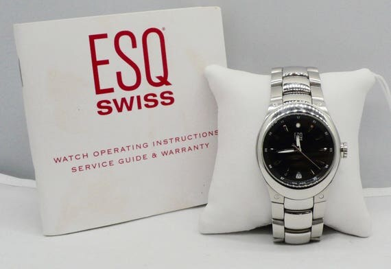 Nice ESQ Swiss E5263 by Movado, Stainless Steel Wristwatch pre-owned