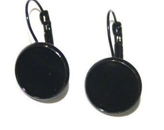 8 12mm black earrings (4 pairs) Stud Earrings