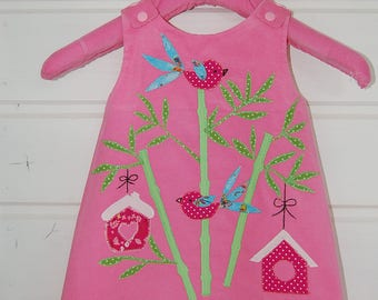 """Straps for fall and winter girl dress size 2 """"Bamboo"""""""