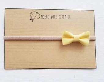 "Elastic headband/headband ""Yellow"" bow"