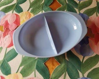 Vintage Pyrex; Delphite Pyrex divided dish