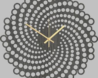 Wall Clock - Wood Wall Clock Spiral, Modern Wall Clock, Home Decor, Silent Wooden Clock, Housewares, Hanging Wall Clock, Living Room Clock