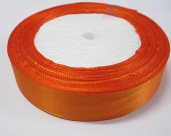 4 metres of plain sewing scrapbooking 20mm orange satin ribbon