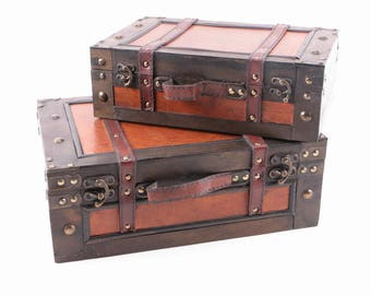 Pair of Contemporary Suitcase Boxes
