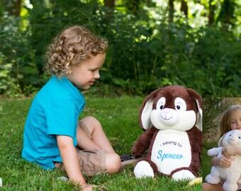 Personalised Easter Bunny / Easter Gift / First Easter Keepsake /  Plush Bunny / Bunny Rabbit / Stuffed Rabbit  / Stuffed Easter Bunny