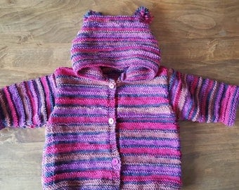 Multicolor hooded jacket size 12 months to 18 months