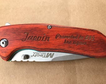 Groomsmen Gifts, Personalized Gift, Pocket Knife, Engraved Pocket Knife, Wedding Gift, Brother In law, Wedding Party Gifts, New Brother