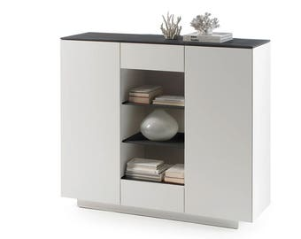 DARIN 48957DW - tall cabinet with deep drawers / contemporary sideboard / 2 doors cabinet