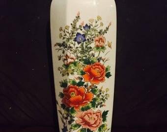 1950s Japanese Floral Vase