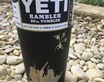 Genuine Custom Duck Hunting Yeti 20oz Rambler Matte Black Powder Coat