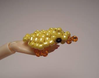 Figurine little Chick Yellow seed beads