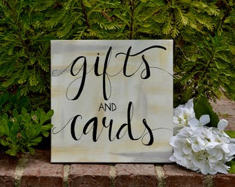 Gifts and Cards Wedding Sign - Custom - Personalized