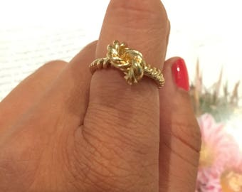 Gold Knot Minimalist Ring