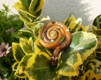 Brown, Tan, Brown ring snake ring