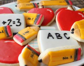 Back to School Sugar Cookies