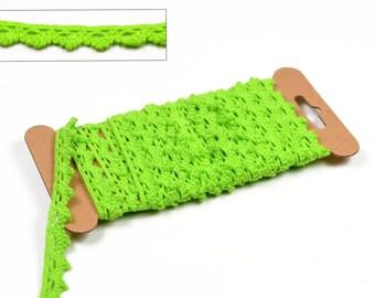 3 meters lace cotton green 100% cotton colors