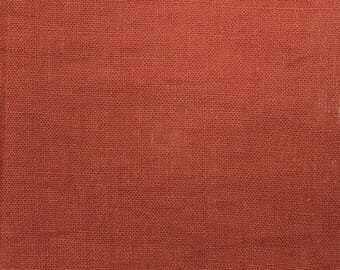 Linen Brown Terracotta sold was cut from 25 cm