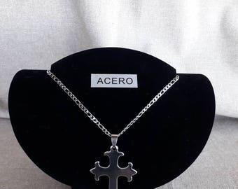 Steel Cross Necklace