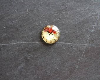"""Cabochon 20 clock """"Bouquet of roses"""""""