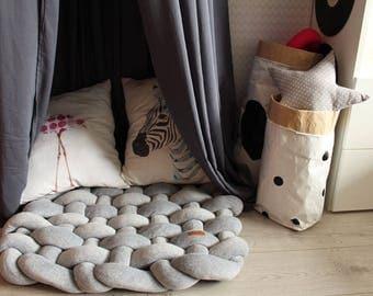 floor mat cushion - Baby shower gift play mat for games knot pillow