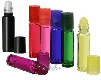 12 Glass Roll On Bottles - 10 ML