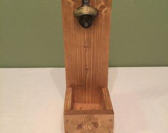Wall Mount Wood Bottle Opener