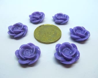 Set of 6 lilac flowers