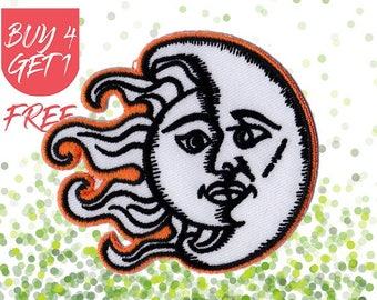 Fantasy Patches Sunshine Patch Iron On Patch Embroidered Patch Sun Ray Moon