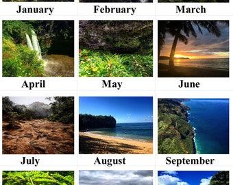 2018 Hawaiian Calendar