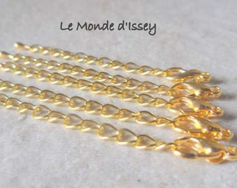 5 chains of extension with lobster clasp gold plated lobster