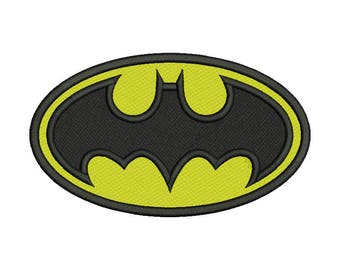 Batman Emblem Embroidery Design - 4 SIZES
