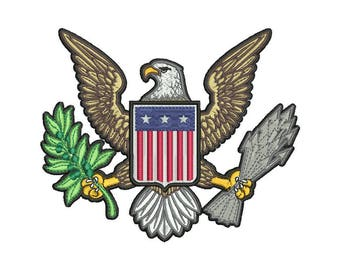 American Eagle Embroidery Design - 3 SIZES