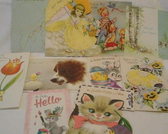 Vintage  Easter  miscellaneous  cards
