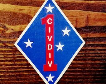 1st Civ Div decal