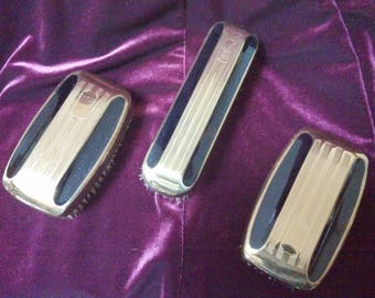 Vintage Men's Dressing Table Hairbrush Set, Monogramable