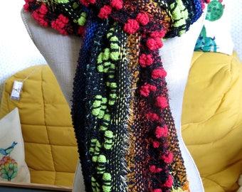 Scarf / stole multicolored fancy