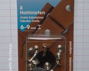 8 silver rivets, height 6-9 mm - Prym - (403 152) fabric