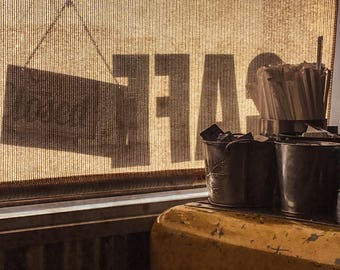 Morning Coffee in Marfa , Landscape Photography, Home Decor, Wall Art, Texas, Big Bend,