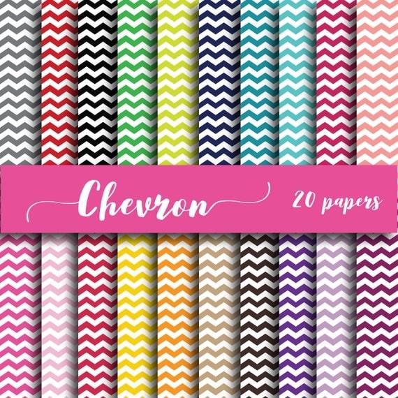 Chevron Paper Pack Digital Backgrounds Scrapbooking