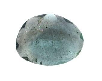 Aquamarine Natural Moss Aqua Both Side Faceted Rose Cut Polki For Designer Jewelry Making - 4031