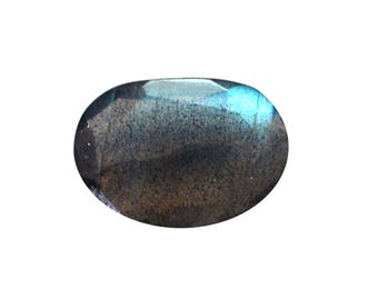 Labradorite Natural Labradorite Rose Cut Polki Both Side Faceted 2.75 cts 9x13 mm For Designer Jewelry 3932
